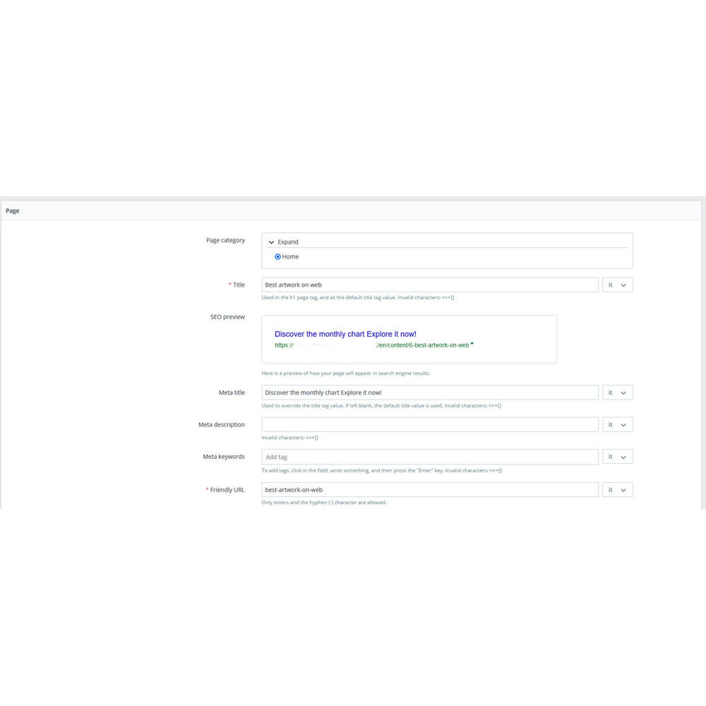 module - SEO (référencement naturel) - Charts on front-end with SEO support - 3