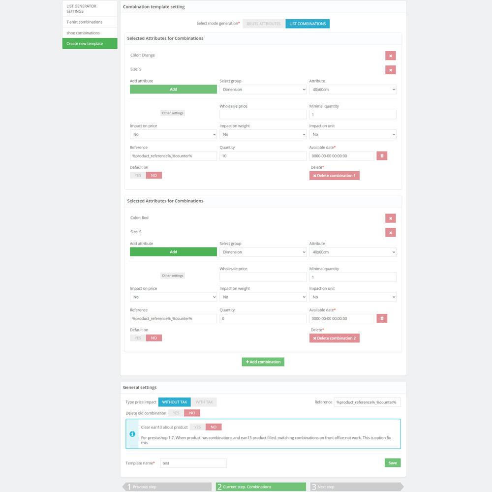 module - Quick Eingabe & Massendatenverwaltung - Bulk / Mass create combination products - 7