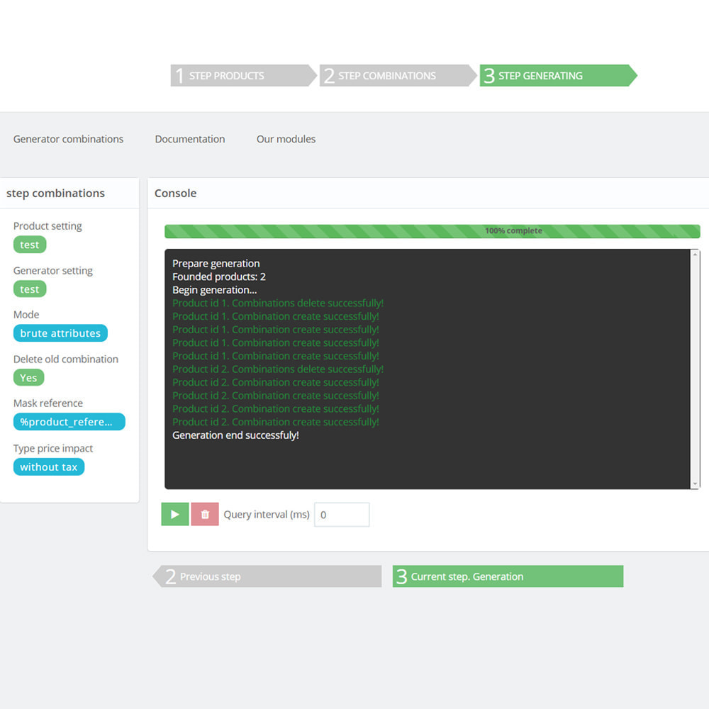 module - Quick Eingabe & Massendatenverwaltung - Bulk / Mass create combination products - 8