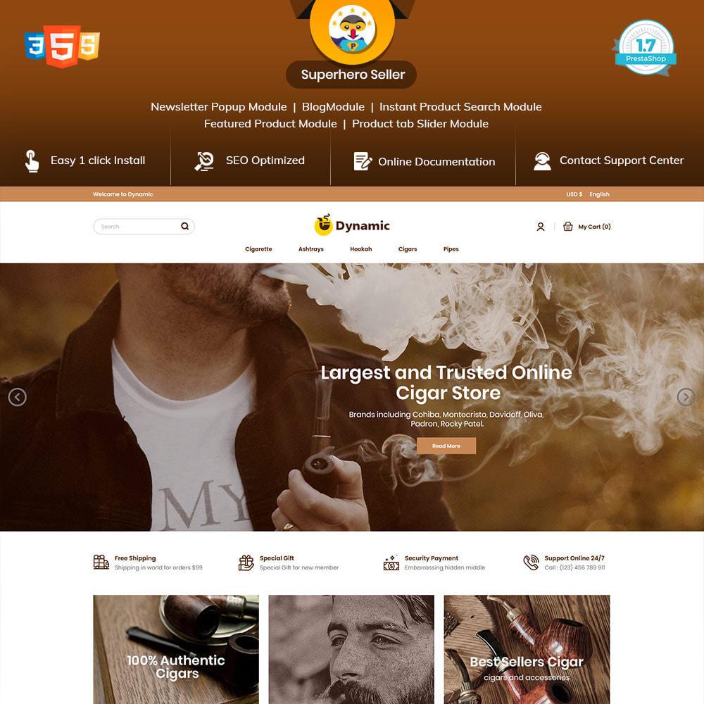 theme - Napoje & Wyroby tytoniowe - Dynamic Cigar Cigaratte - Hookah Tobacco Drink Store - 1