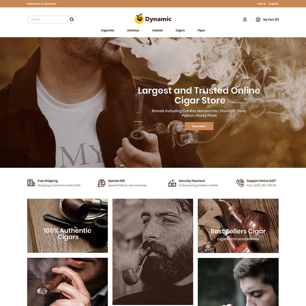 theme - Napoje & Wyroby tytoniowe - Dynamic Cigar Cigaratte - Hookah Tobacco Drink Store - 2