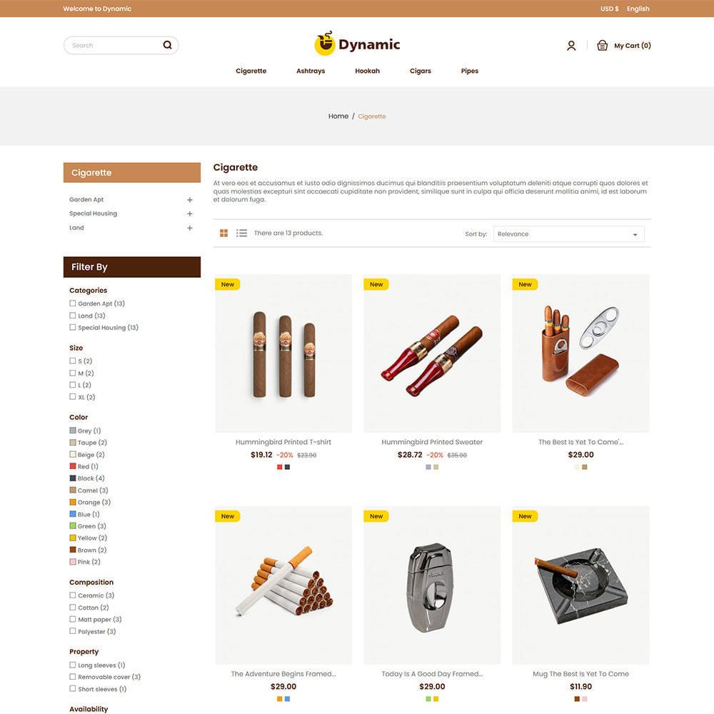theme - Napoje & Wyroby tytoniowe - Dynamic Cigar Cigaratte - Hookah Tobacco Drink Store - 3