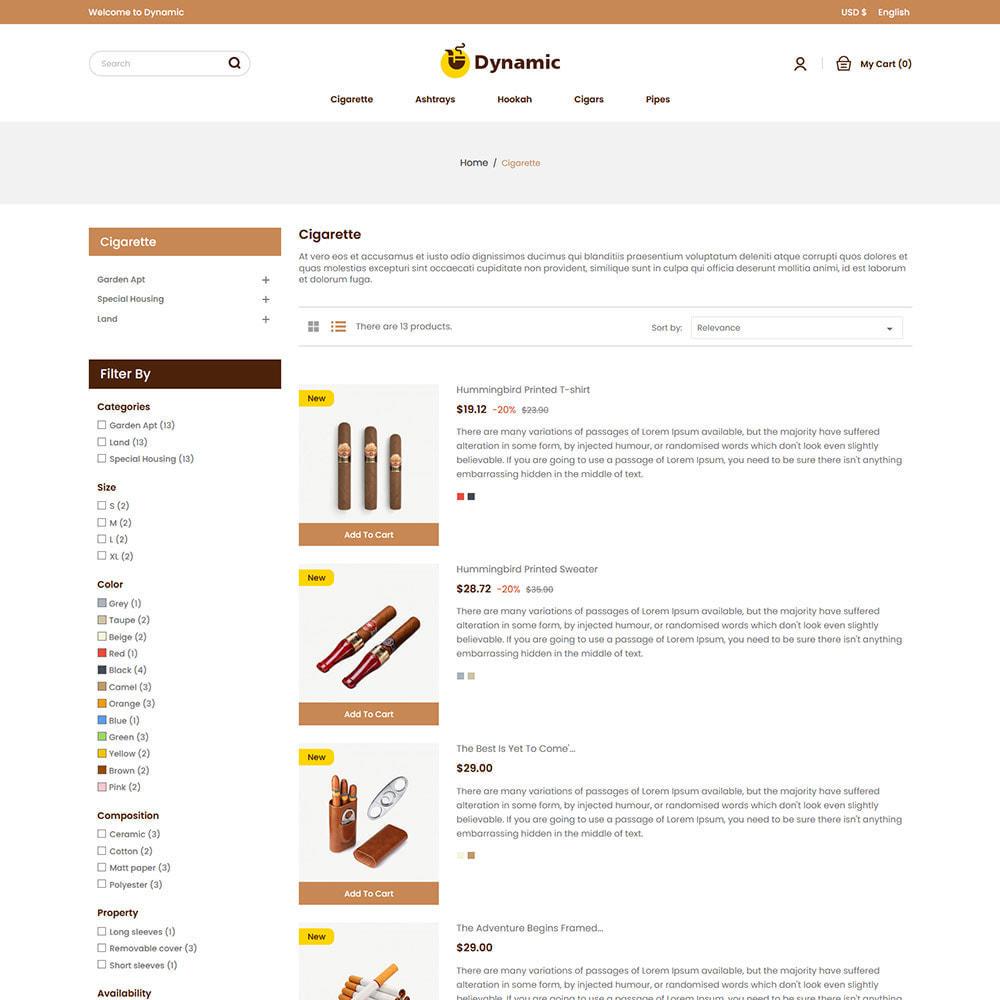 theme - Napoje & Wyroby tytoniowe - Dynamic Cigar Cigaratte - Hookah Tobacco Drink Store - 4