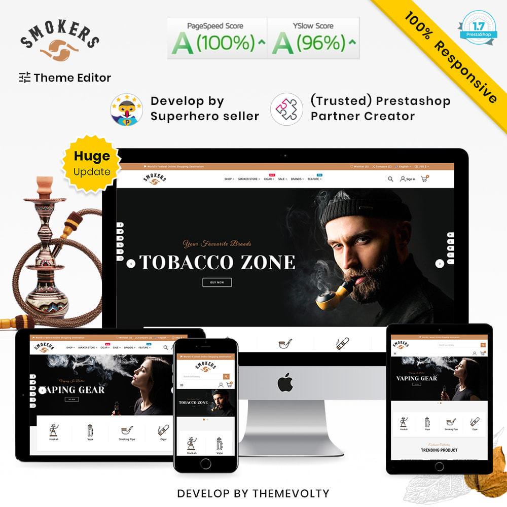 theme - Drink & Wine - Smokers Mega Tobacco–Cigar Wine–Vin Super Store v1 - 1