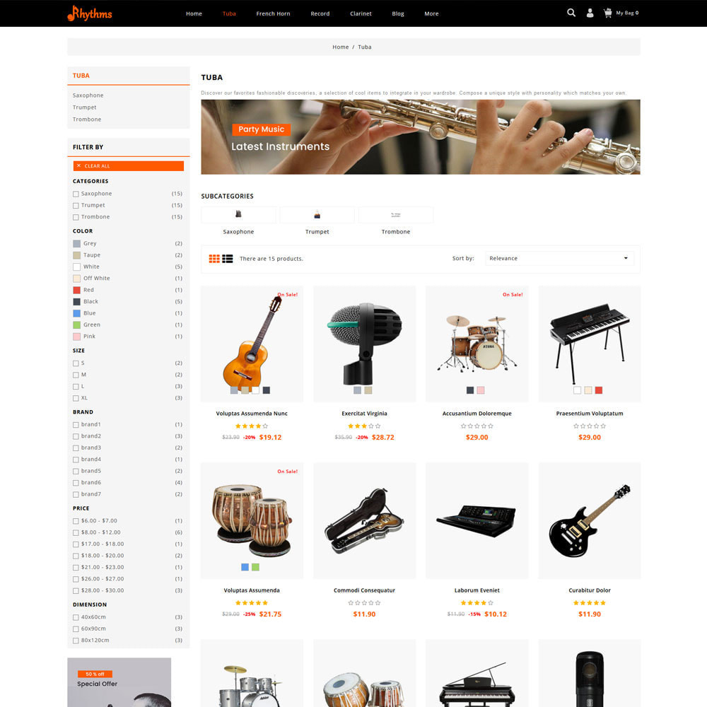 theme - Sports, Activities & Travel - Rhythms - Music Store - 3