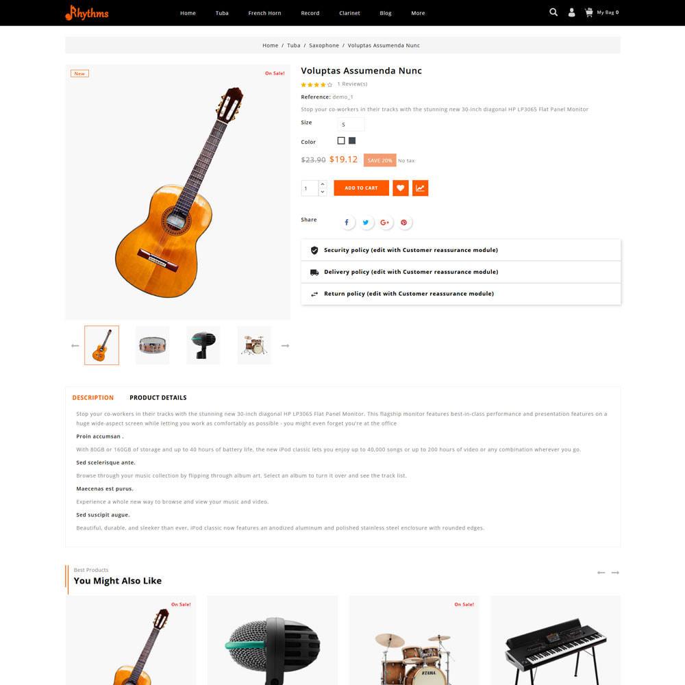 theme - Sports, Activities & Travel - Rhythms - Music Store - 5