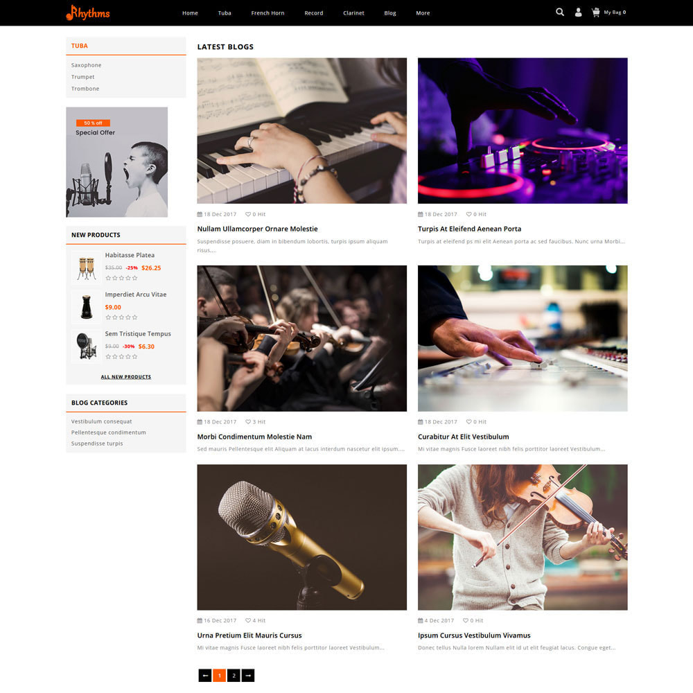 theme - Sports, Activities & Travel - Rhythms - Music Store - 6