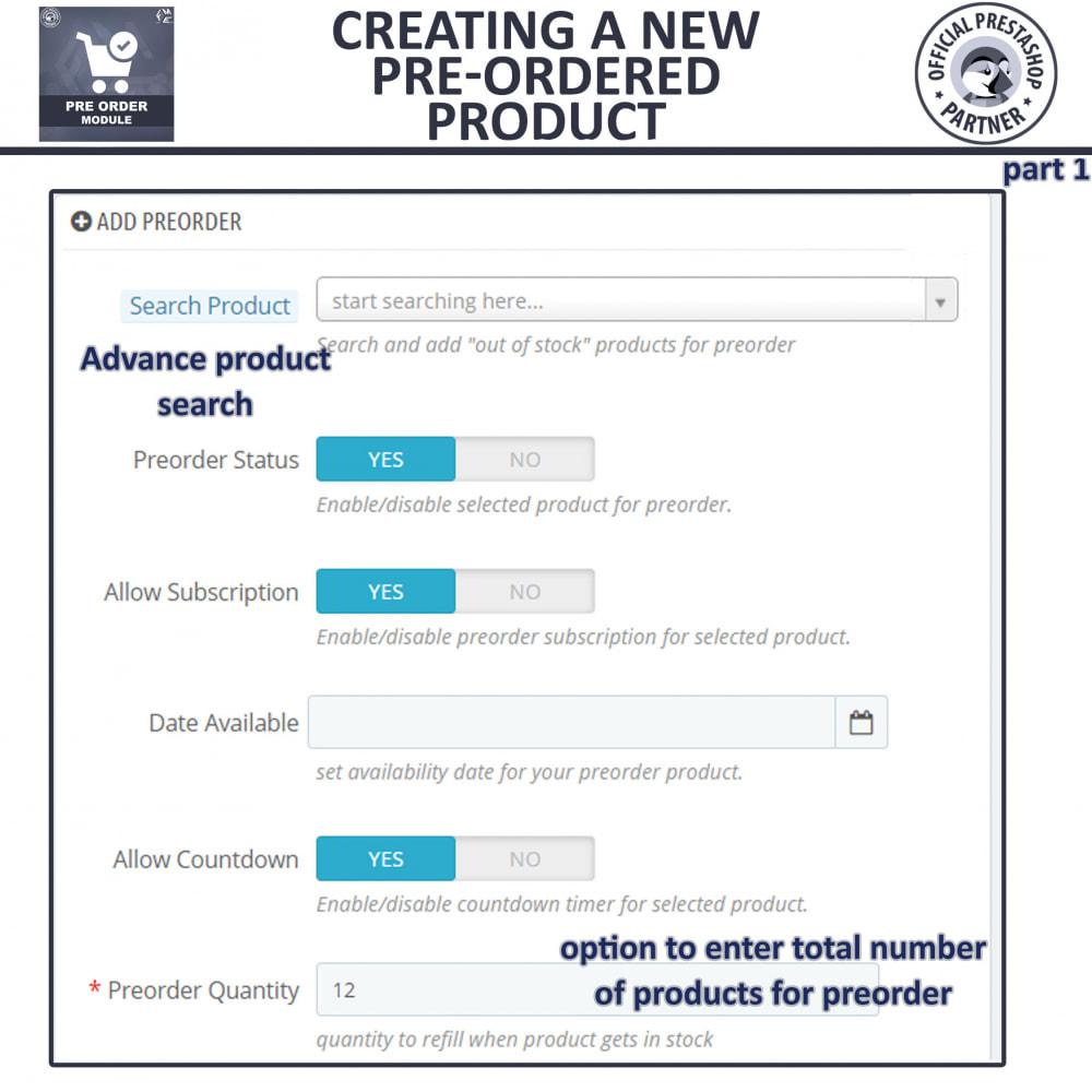 module - Cadastro e Processo de Pedido - Pre-Order - Advance Pre-Order Booking - 11
