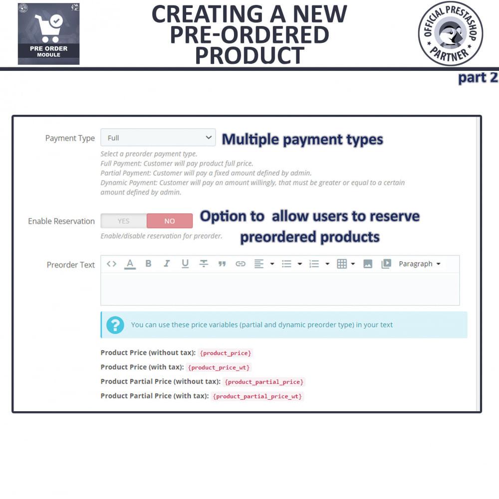 module - Cadastro e Processo de Pedido - Pre-Order - Advance Pre-Order Booking - 12