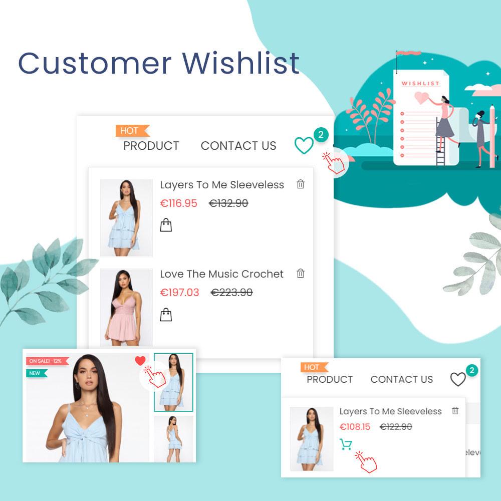 module - Liste de souhaits & Carte cadeau - Wishlists & Favorites Customer Products List - 1