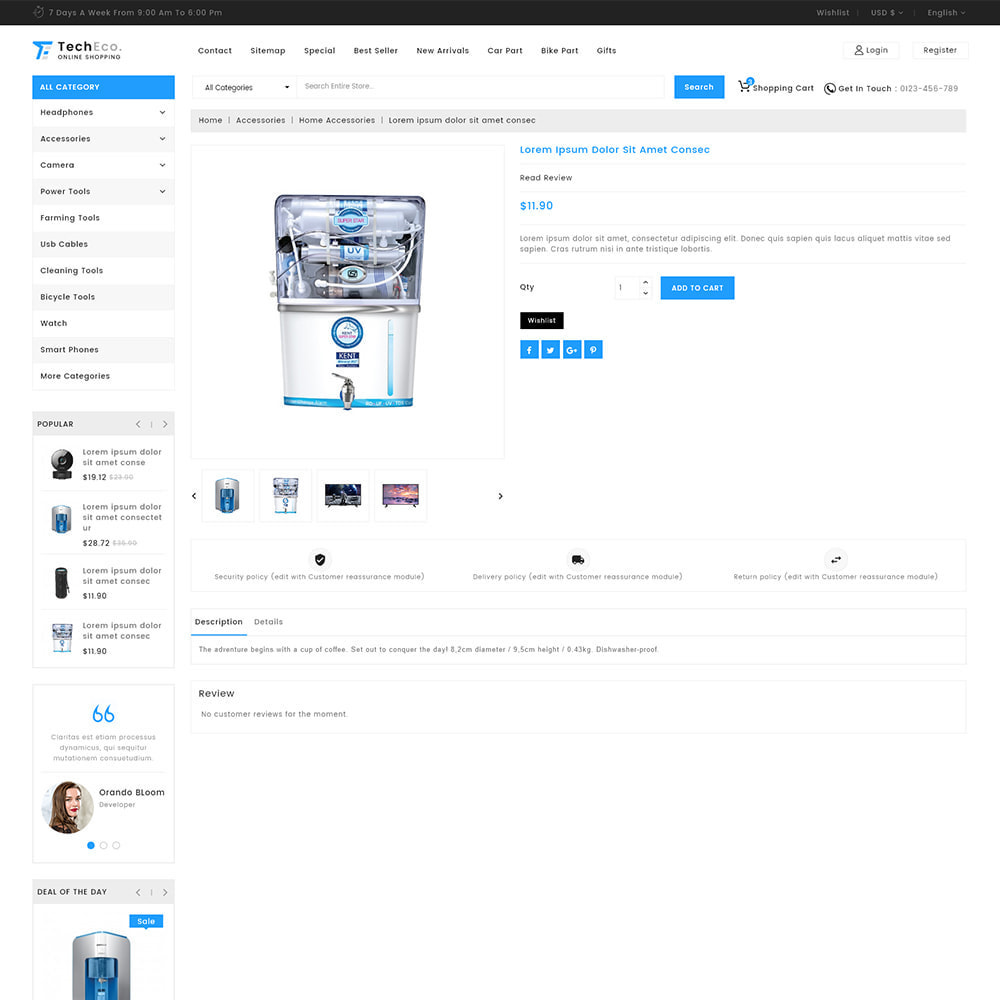theme - Elektronika & High Tech - TechEco  - The Online Shopping - 4