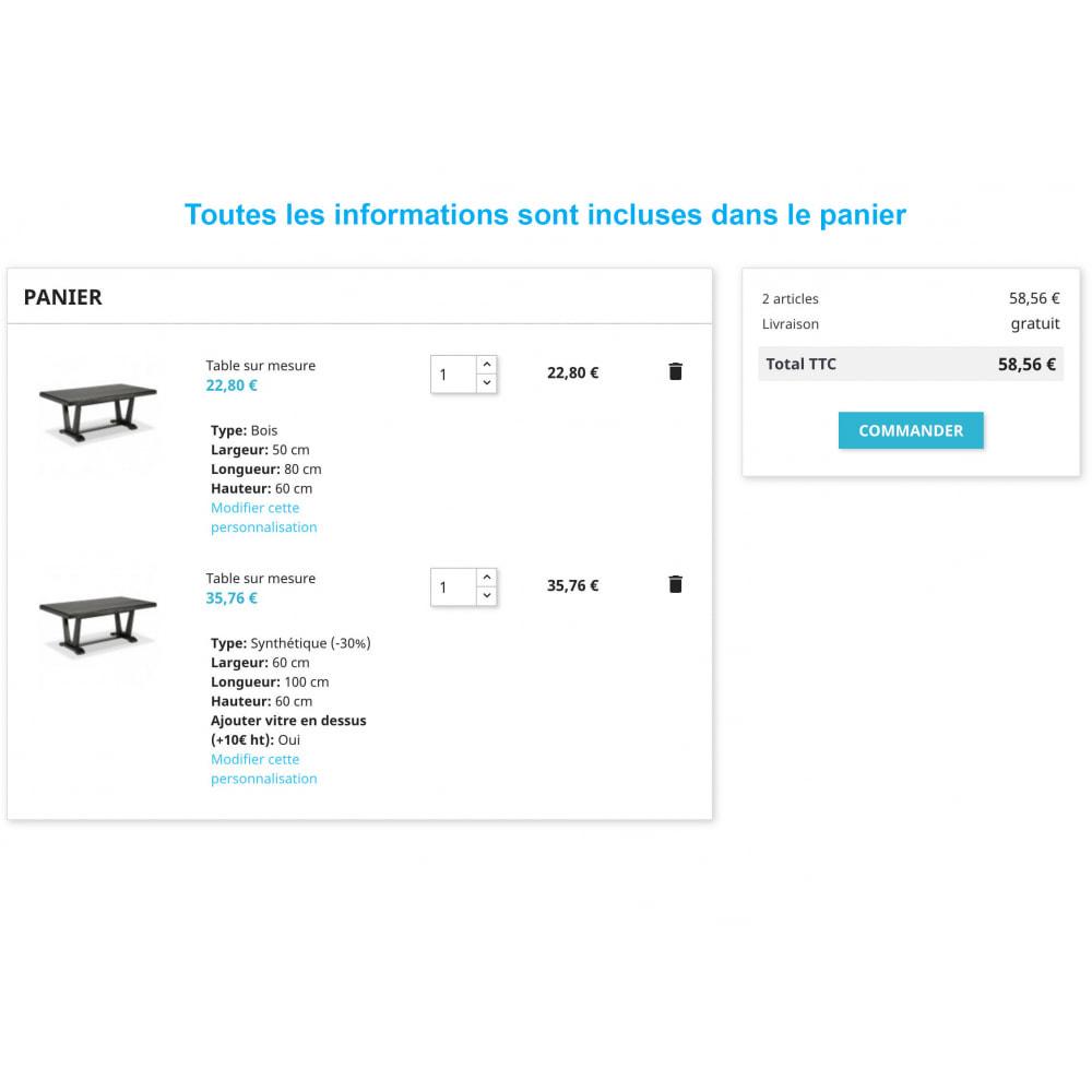 module - Tailles & Dimensions - Produits sur mesure - 4