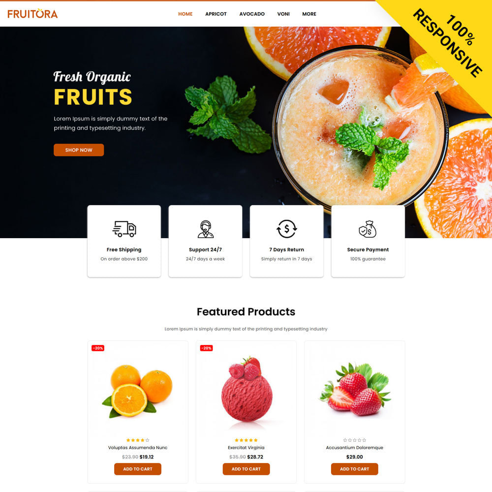 theme - Cibo & Ristorazione - Fruitora - Fruit Shop - 1
