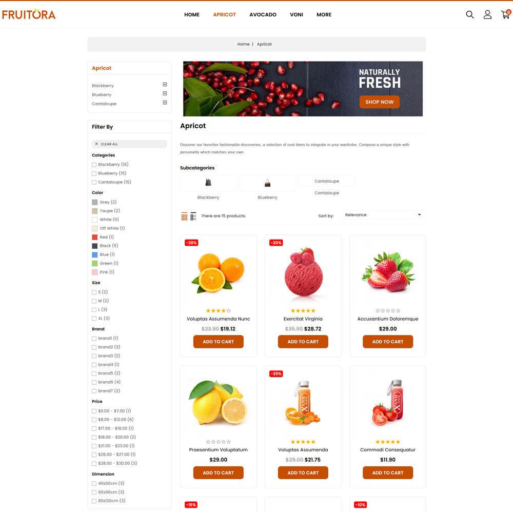 theme - Cibo & Ristorazione - Fruitora - Fruit Shop - 2