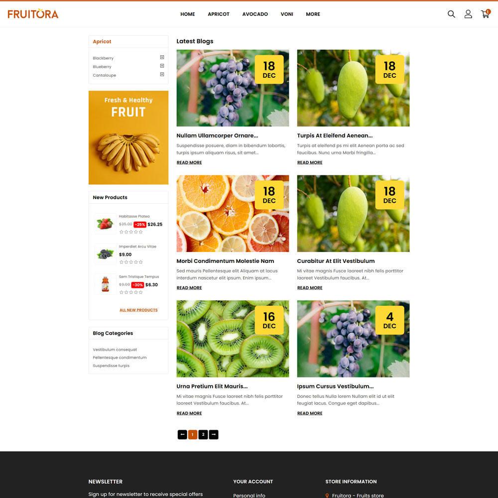 theme - Cibo & Ristorazione - Fruitora - Fruit Shop - 5
