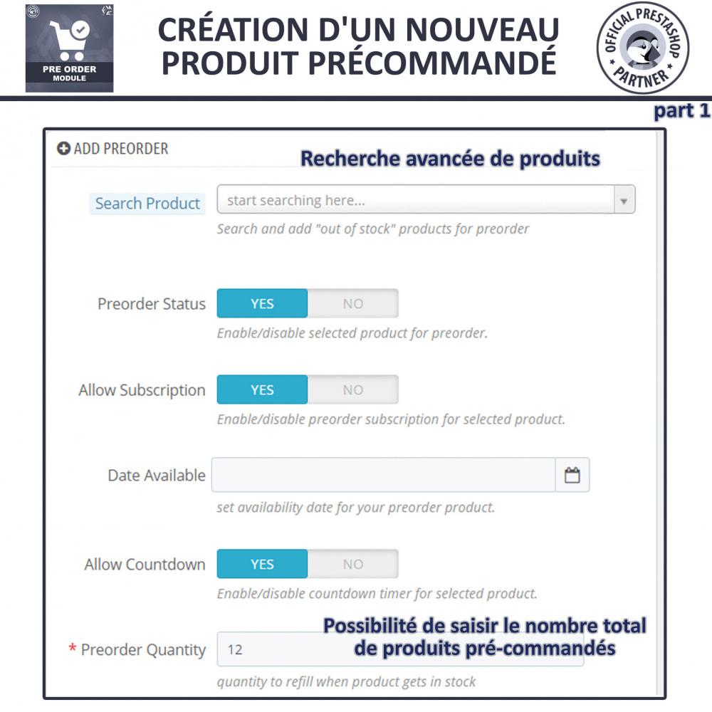 module - Inscription & Processus de commande - Pre-Order - Advance Booking | Out of Stock Selling - 10