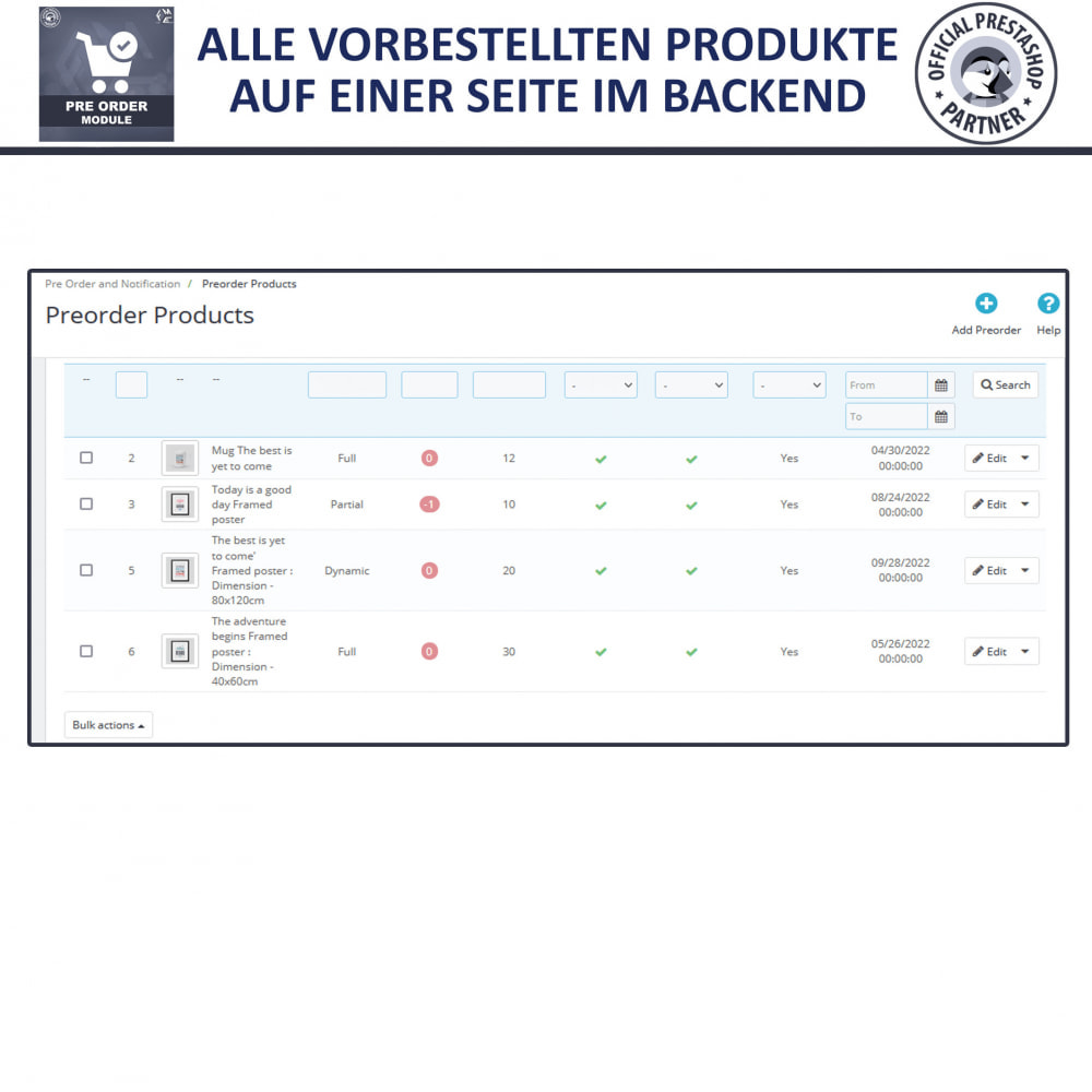 module - Anmeldung und Bestellvorgang - Pre-Order - Advance Booking | Out of Stock Selling - 9