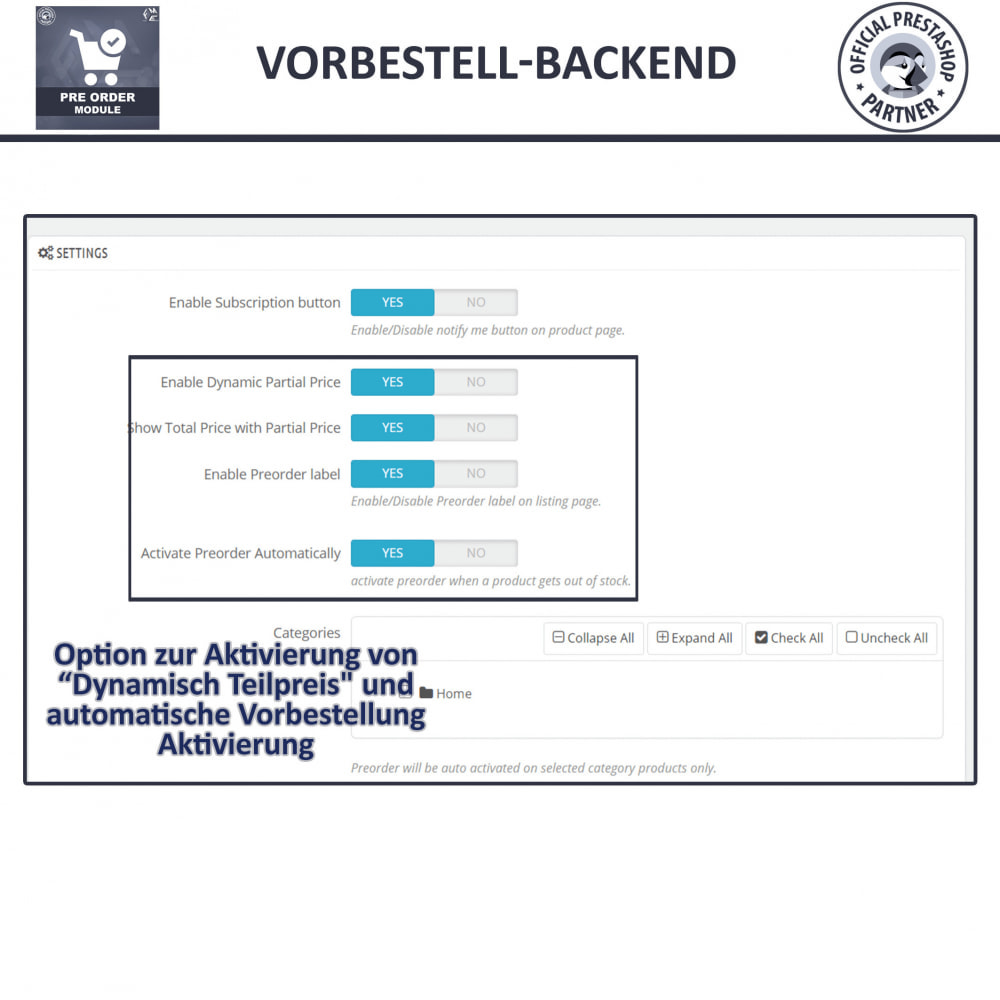 module - Anmeldung und Bestellvorgang - Pre-Order - Advance Booking | Out of Stock Selling - 13