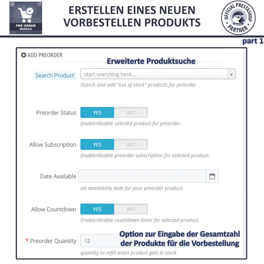 module - Anmeldung und Bestellvorgang - Pre-Order - Advance Booking | Out of Stock Selling - 10