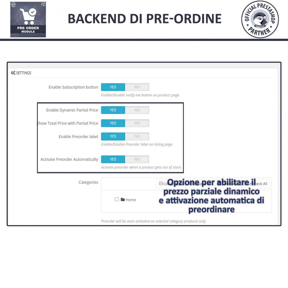 module - Iscrizione e Processo di ordinazione - Pre-Order - Advance Booking   Out of Stock Selling - 13