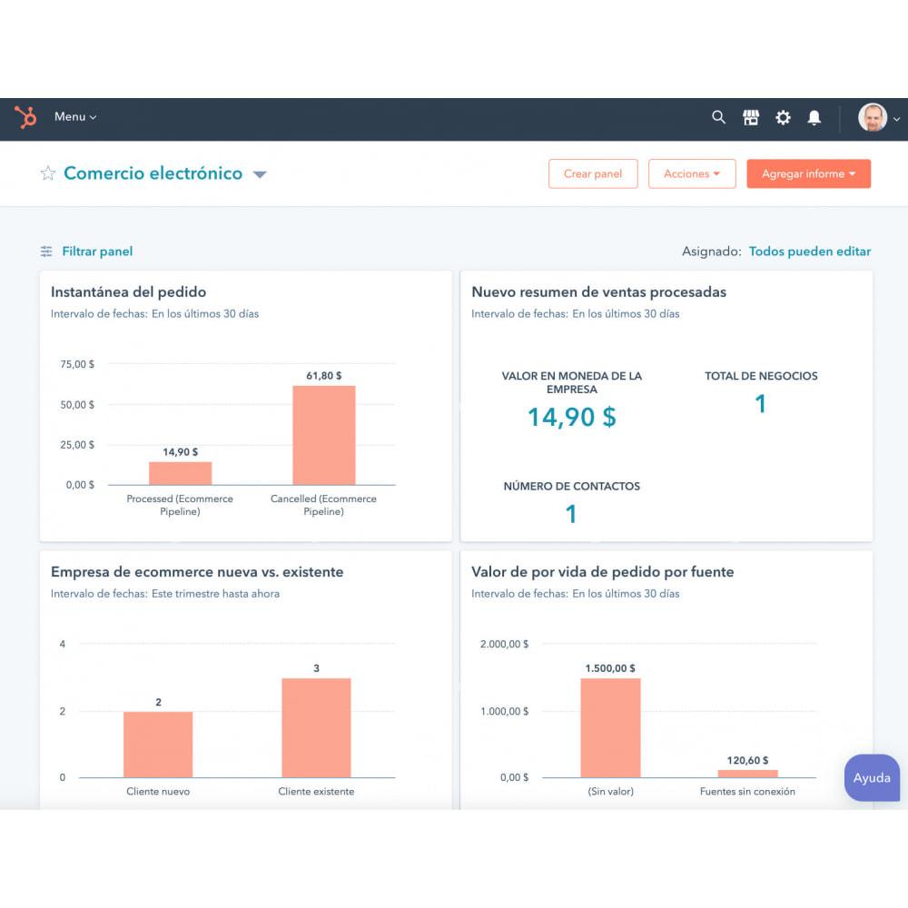 module - Remarketing & Paniers Abandonnés - Intégration du commerce électronique HubSpot - 1