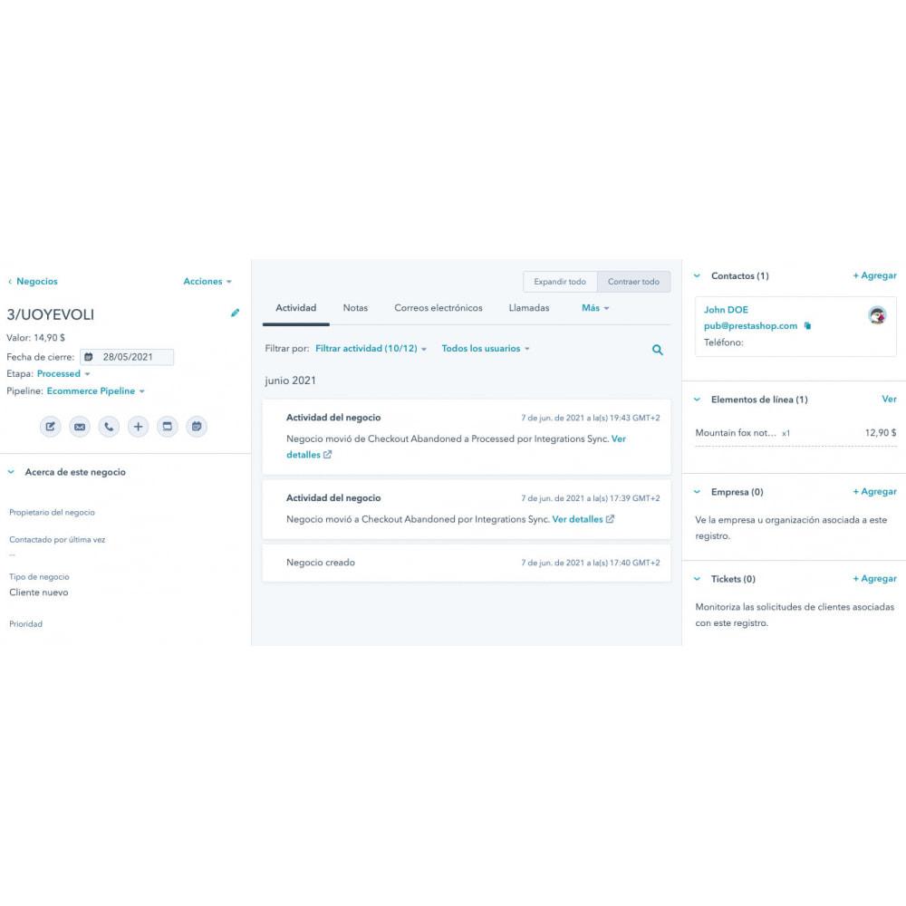 module - Remarketing & Paniers Abandonnés - Intégration du commerce électronique HubSpot - 11