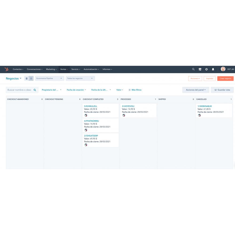 module - Remarketing & Achtergelaten winkelmanden - HubSpot e-handelsintegration - 2