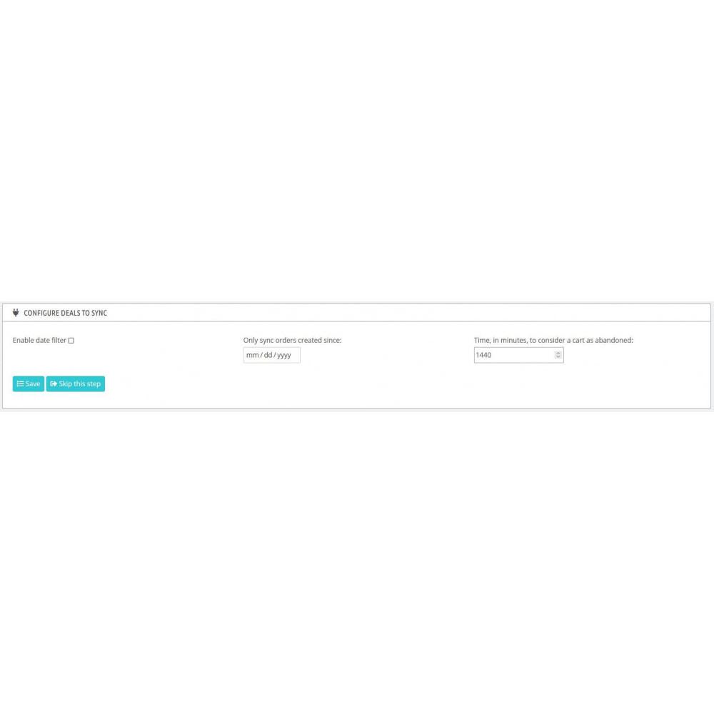 module - Remarketing & Compras abandonados - Integração de comércio eletrônico HubSpot - 4