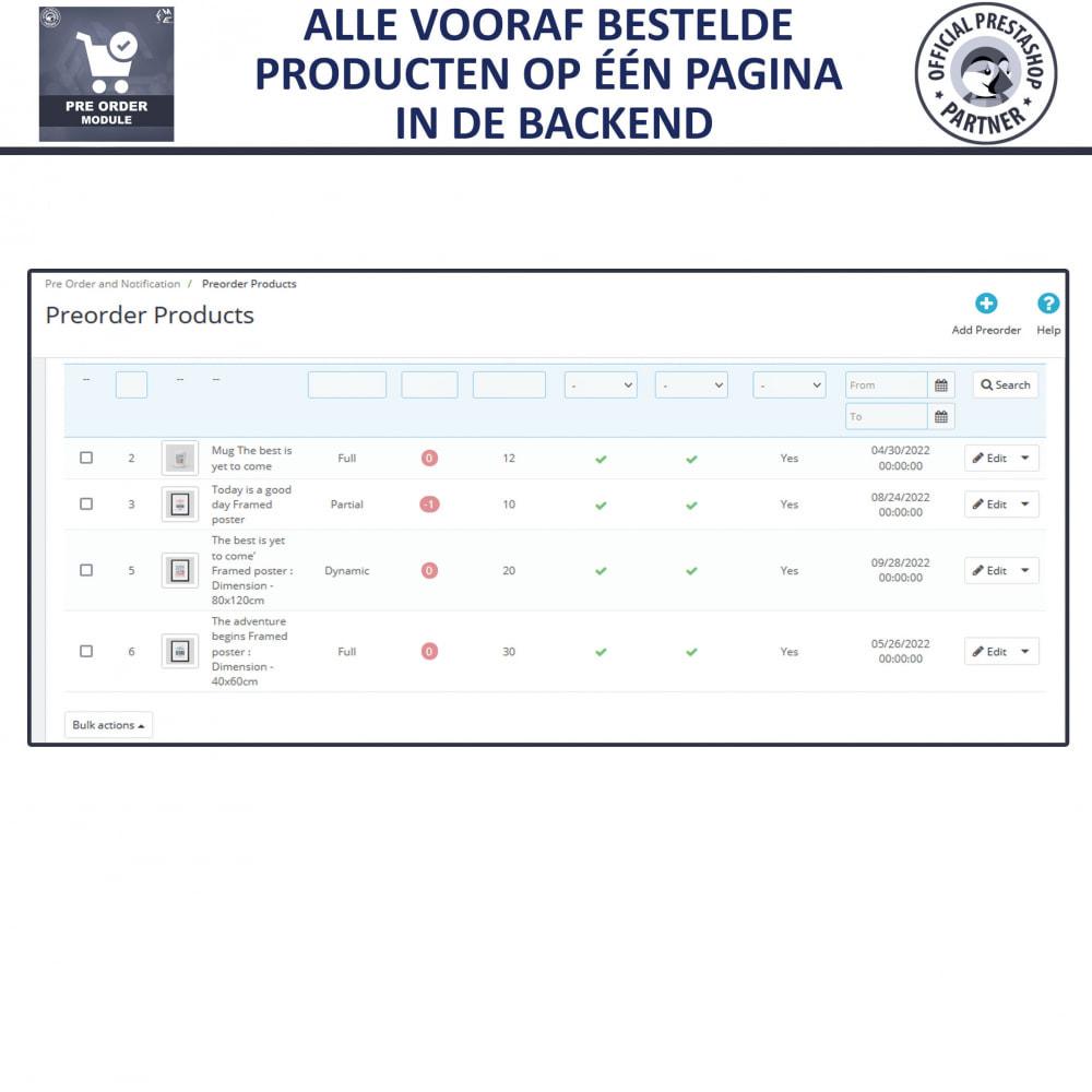 module - Registratie en Proces van bestellingen - Pre-Order - Advance Booking | Out of Stock Selling - 9