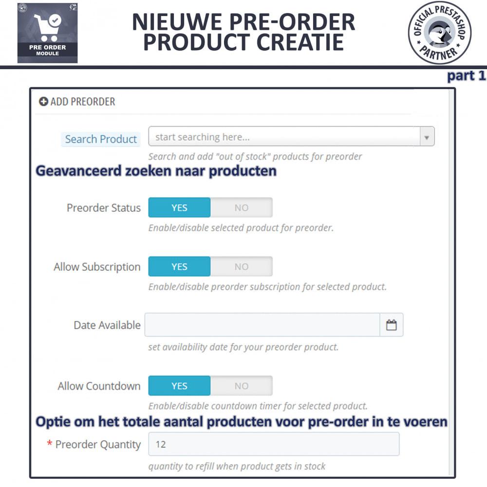 module - Registratie en Proces van bestellingen - Pre-Order - Advance Booking | Out of Stock Selling - 10