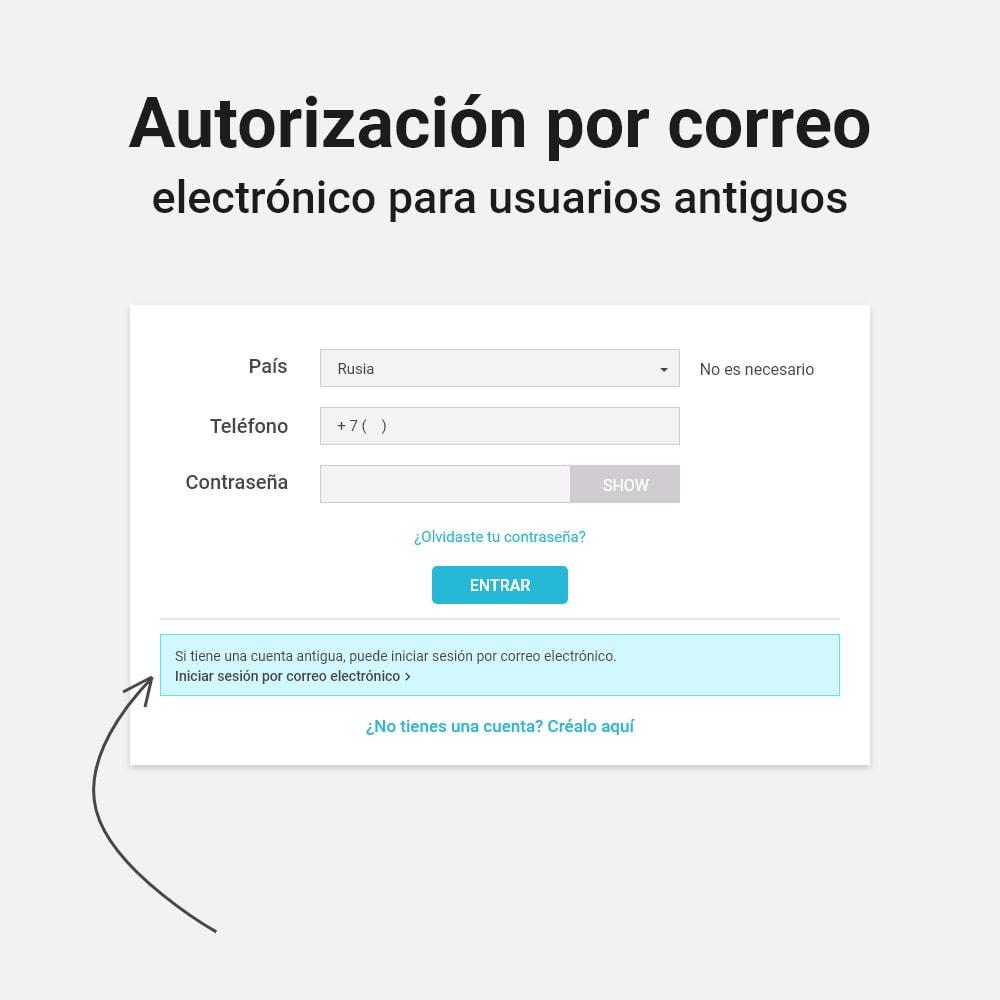 module - Dispositivos móviles - Inicio de sesión y registro por número de teléfono - 3