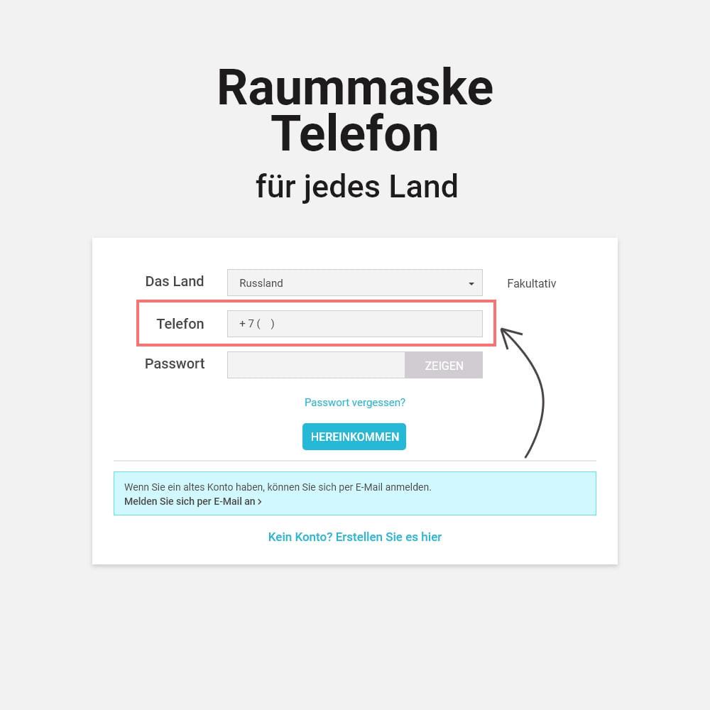 module - Mobile Endgeräte - Login und Registrierung per Telefonnummer - 7