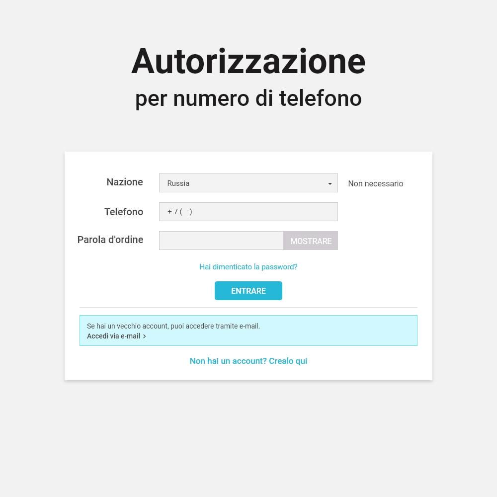 module - Dispositivi mobili - Login e registrazione tramite numero di telefono - 2
