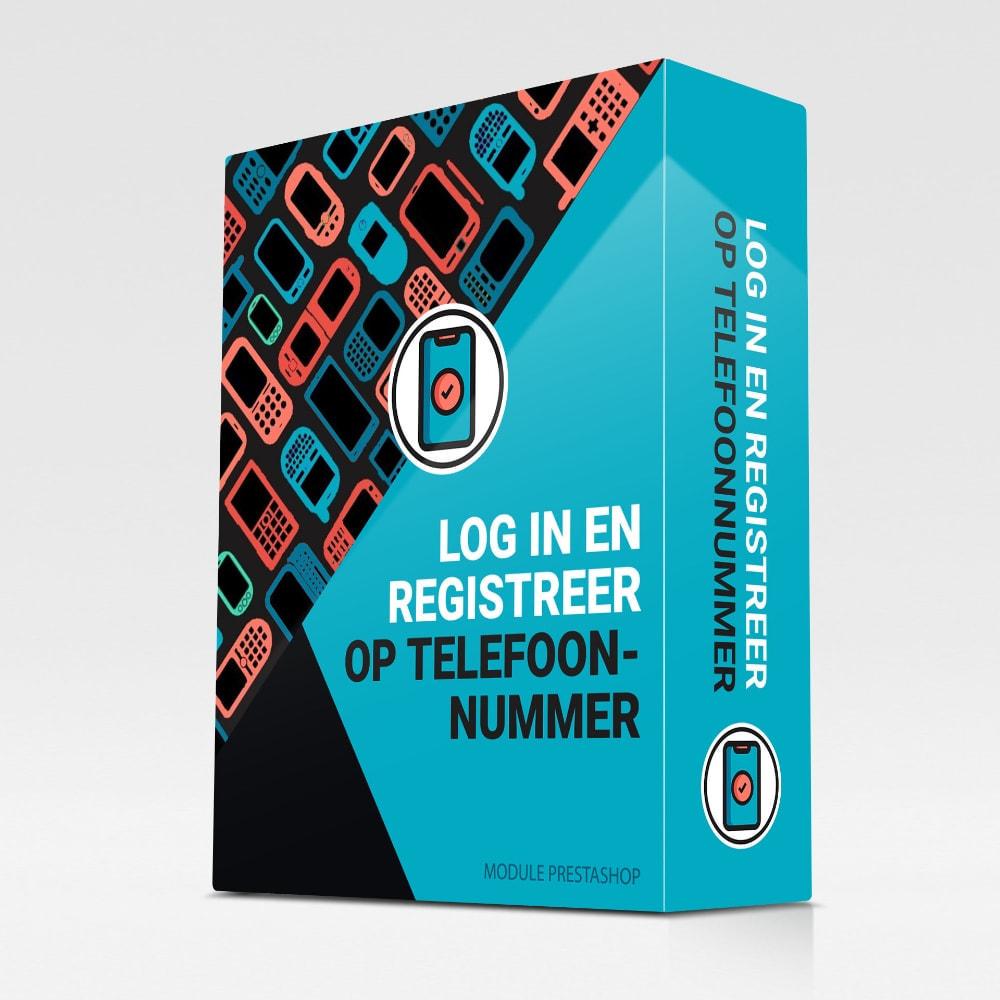 module - Mobiele apparaten - Log in en registreer op telefoonnummer - 1
