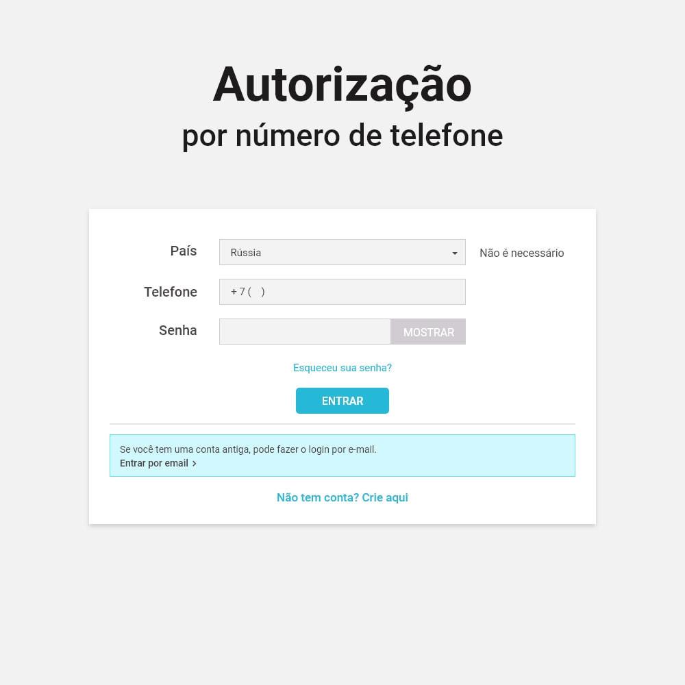 module - Dispositivos-móveis - Login e registro por número de telefone - 2