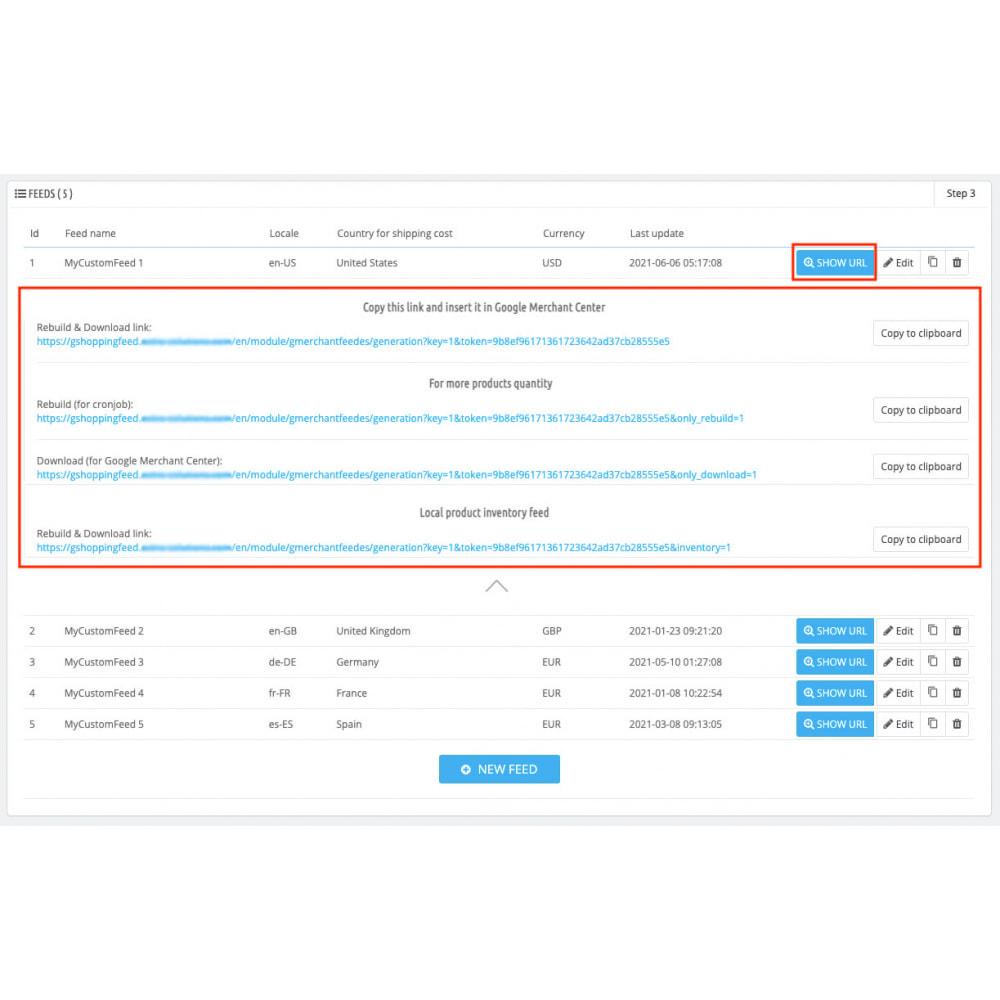 module - Comparateurs de prix - Google Merchant Center (Google Shopping Feed) PRO - 4