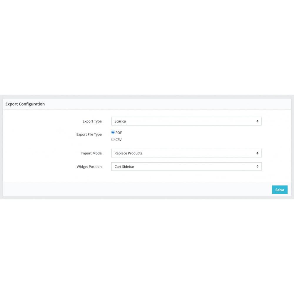module - Importação & exportação de dados - Cart Exporter - 3