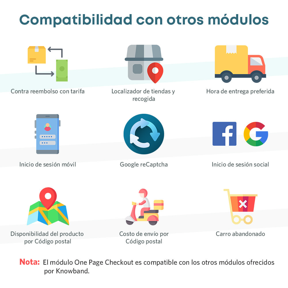 module - Proceso rápido de compra - One Page Checkout, Social Login & Mailchimp - 2