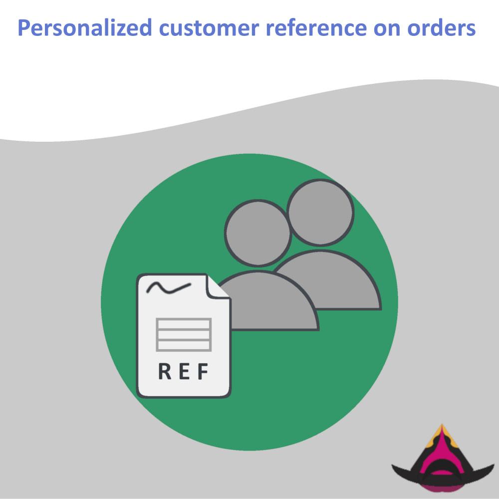 module - Бухгалтерии и выставления счетов - Personalized customer reference on orders - 1