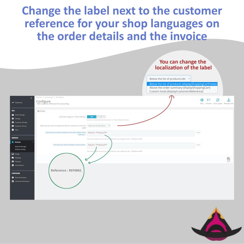 module - Бухгалтерии и выставления счетов - Personalized customer reference on orders - 4