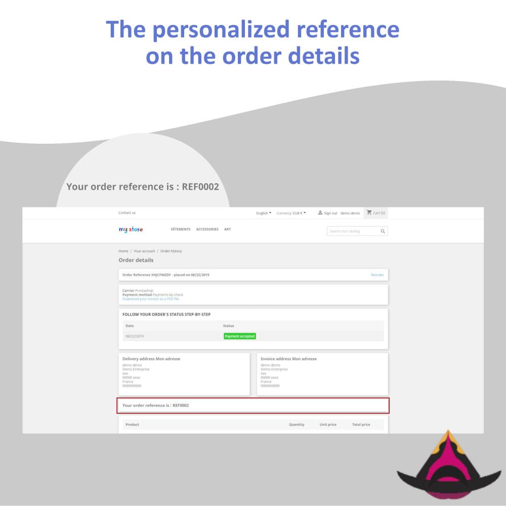 module - Бухгалтерии и выставления счетов - Personalized customer reference on orders - 5