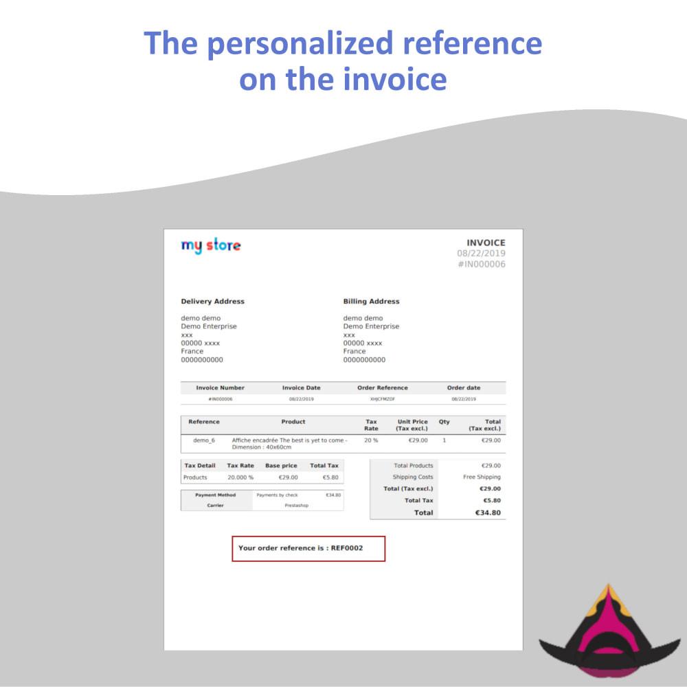 module - Бухгалтерии и выставления счетов - Personalized customer reference on orders - 6