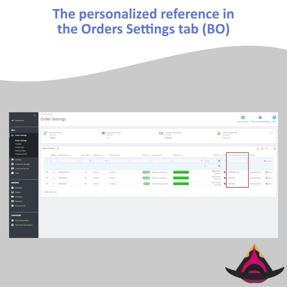 module - Бухгалтерии и выставления счетов - Personalized customer reference on orders - 8