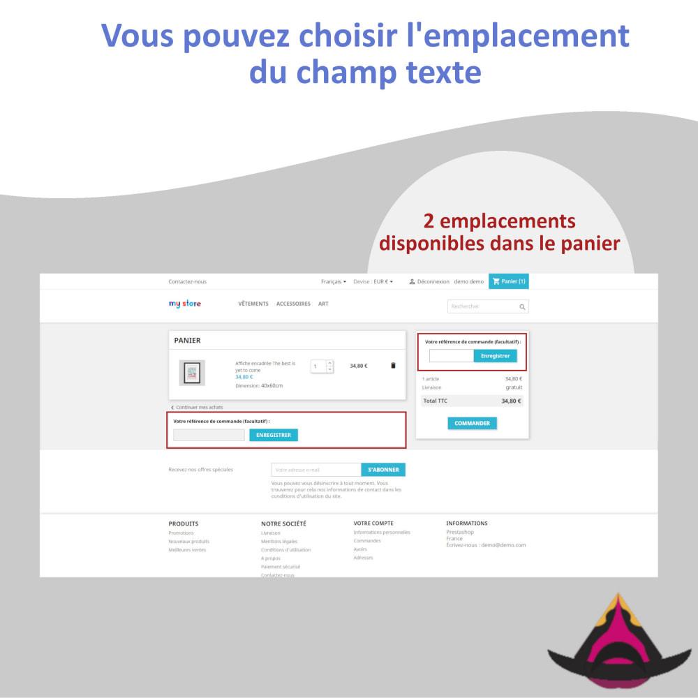 module - Comptabilité & Facturation - Référence client personnalisée sur les commandes - 2