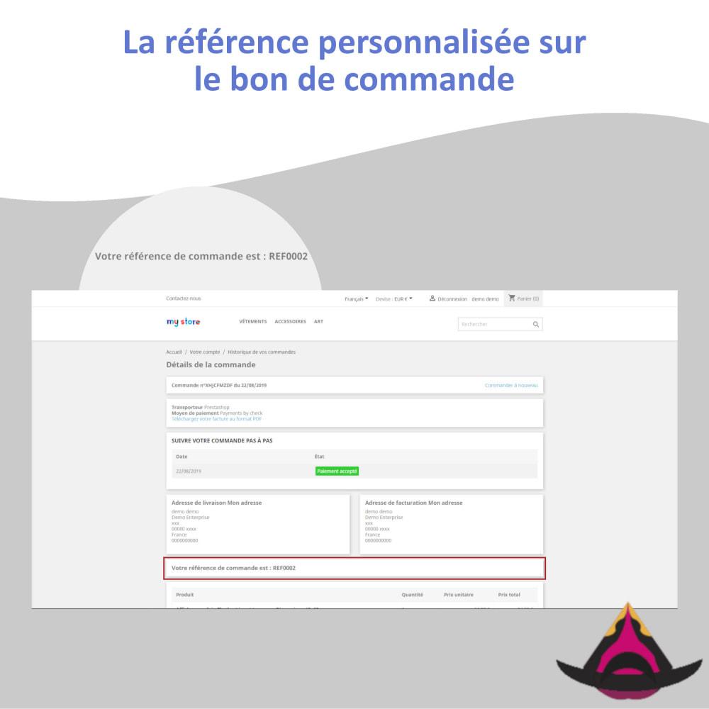 module - Comptabilité & Facturation - Référence client personnalisée sur les commandes - 5
