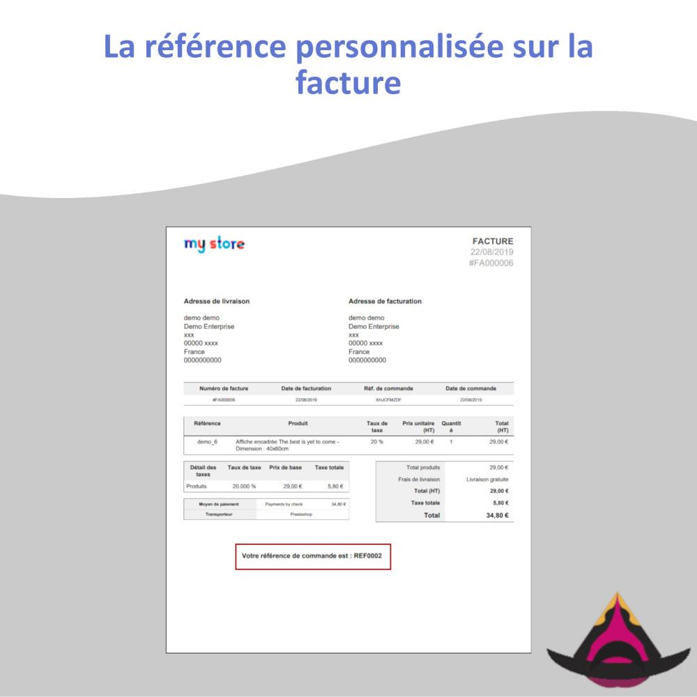 module - Comptabilité & Facturation - Référence client personnalisée sur les commandes - 6