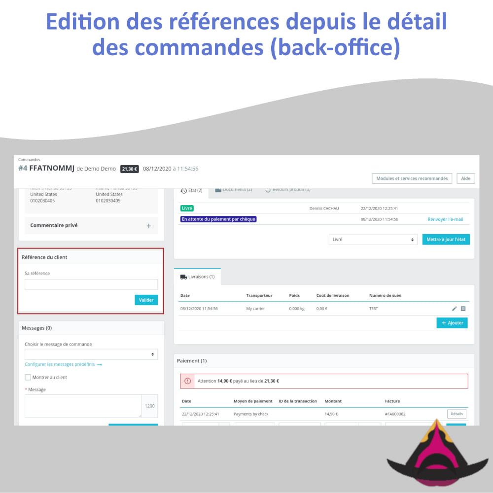 module - Comptabilité & Facturation - Référence client personnalisée sur les commandes - 7