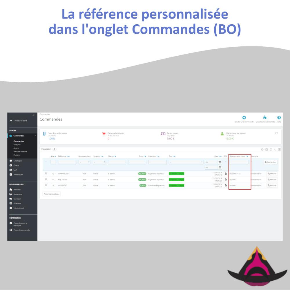 module - Comptabilité & Facturation - Référence client personnalisée sur les commandes - 8