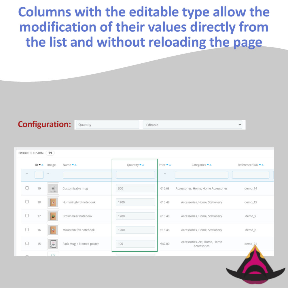 module - Narzędzia administracyjne - Customize the columns on the products list - 7