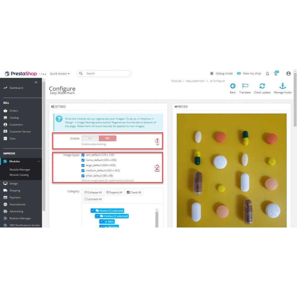 module - Visualizzazione Prodotti - Easy WaterMark PRO - 6